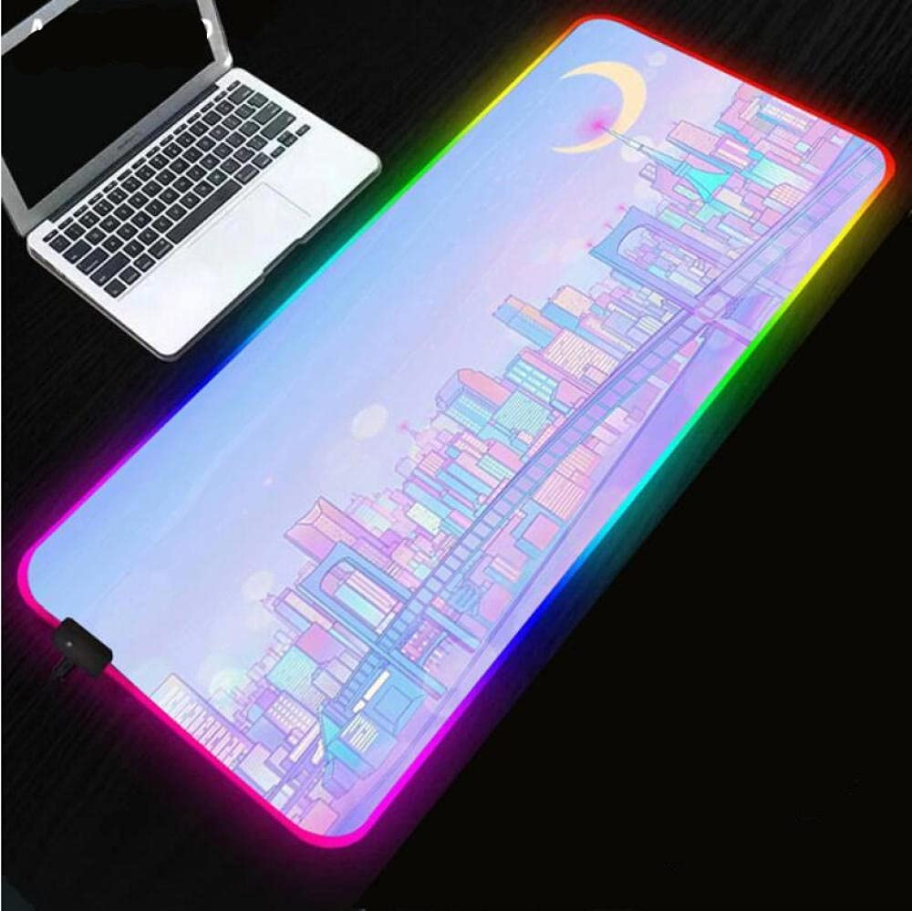 Gaming Mouse Pad Gorgeous New Shipping Free Sailor Moon Light RGB Anime Led Girl