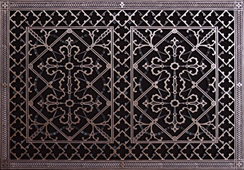 """Decorative Grille, Vent Cover, or Return Register. Made of Urethane Resin to fit Over a 20'x30' Duct or Opening. Total Size of Vent is 22""""x32'x3/8', for Wall and Ceiling grilles (not for Floor use)."""