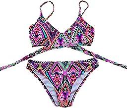 SZH YIBI Sra. Del bikini traje de baño de cuerpo medio ambiente de secado rápido se reunieron en Europa y los Estados Unidos apretada elasticidad , violets , m