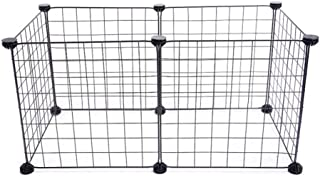 Metal Pet Playpen, Expandable Wire Pet Fence, Easy To Install, For Small/Medium Pets Animals Indoor & Outdoor, 6-Panel Black