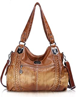 Angel Barcelo Roomy Fashion Hobo Womens Handbags Ladies Purse Satchel Shoulder Bags Tote Washed Leather Bag
