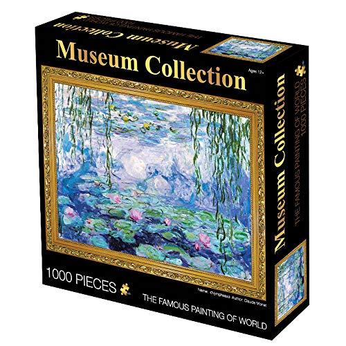 Upretty Puzzle 1000 Pezzi per Adulti Bambini Puzzle di Carta Van Gogh Notte Stellata Girasoli Decorazione Domestica Carta Giocattolo educativo 75x50cm