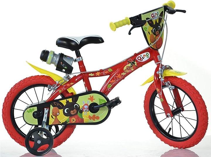 Bicicletta a rotelle  cicli puzone bici 14 bing dino bikes art. 614 -bg B07QBHGWJ8