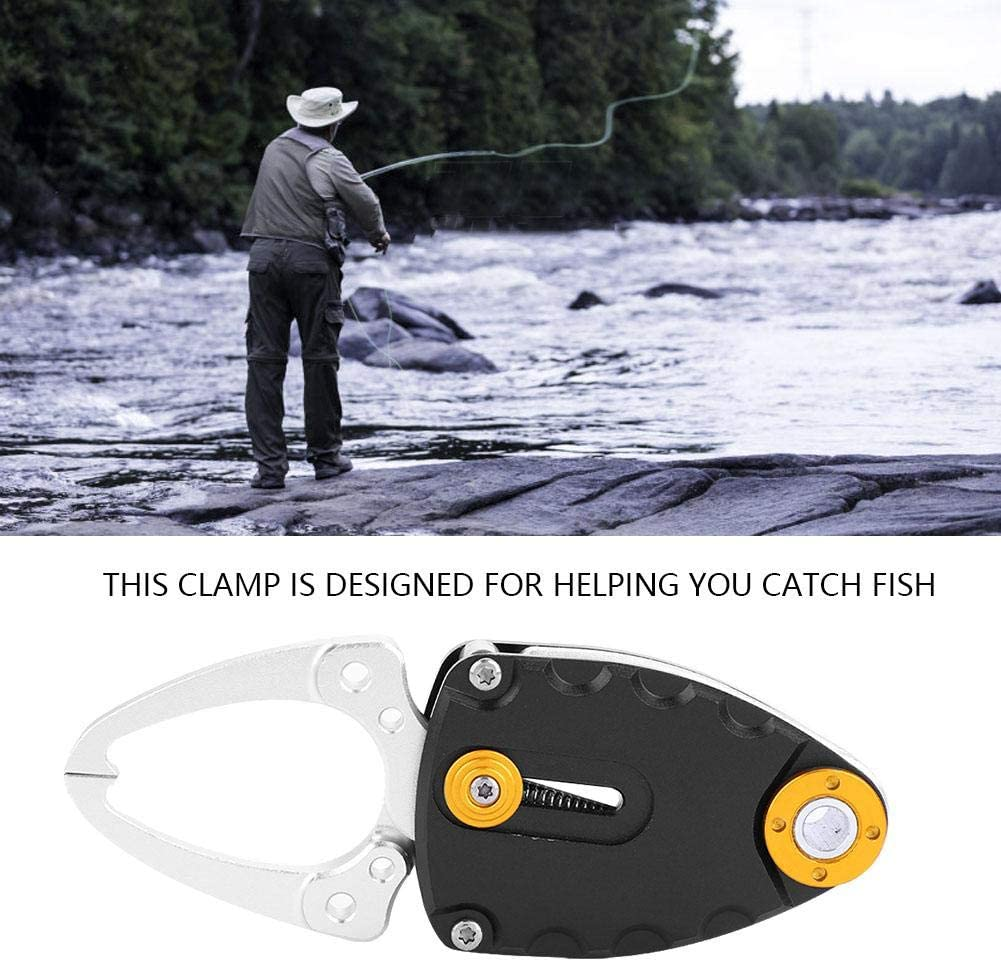 Pinza de Pescado antioxidante de Silicona de aleaci/ón de Aluminio de Superficie Amante de la Pesca para Pescar Captura de Peces Pinza de Pesca