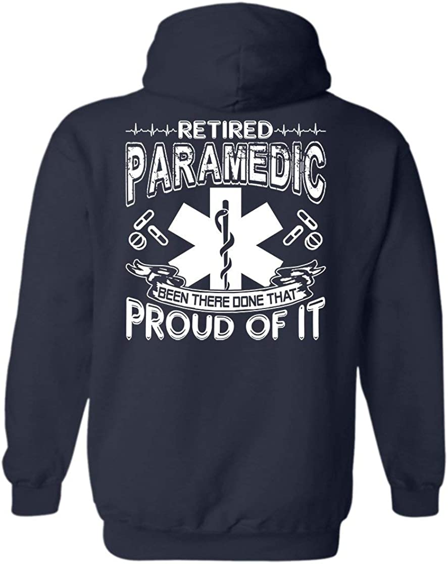 Crazy Love Shirts Ranking TOP2 Special price for a limited time Proud Retired Hoodie Pullover S Paramedic Long