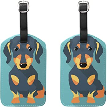 Dachshund Wiener Dog Travel Tags For Travel Bag Suitcase Accessories 2 Pack Luggage Tags