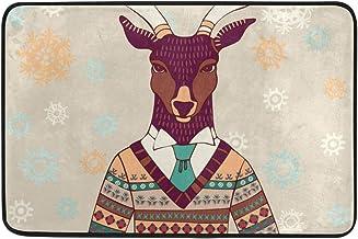 Mydaily Funny Deer Doormat 15.7 x 23.6 inch, Living Room Bedroom Kitchen Bathroom Decorative Lightweight Foam Printed Rug