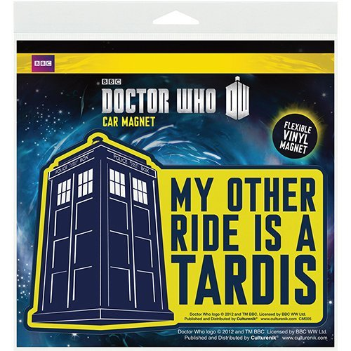 Doctor Who Other Ride Is a Tardis Car Magnet