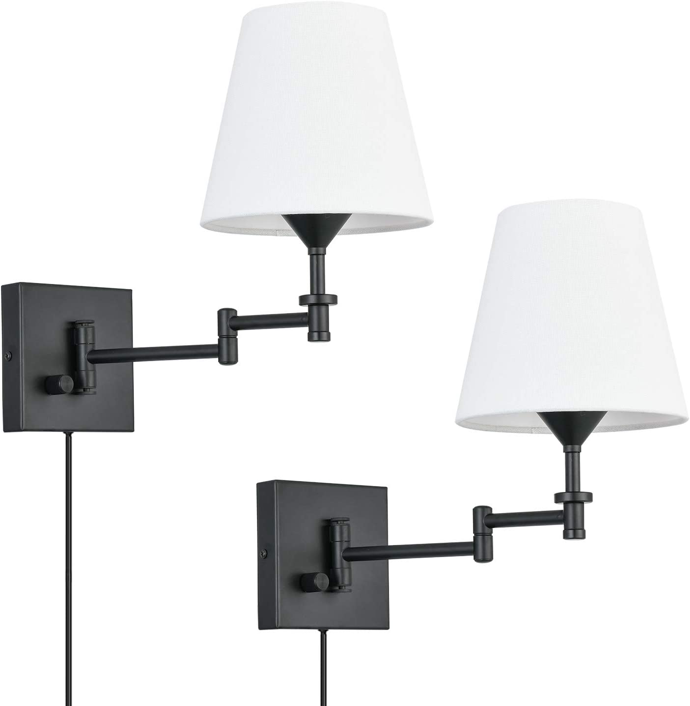 Pauwer Plug Choice in Wall Sconce Set La 2 Arm Adjustable Tampa Mall Swing of