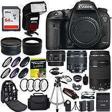 Canon EOS 7D Mark II - Cámara réflex digital (lente de cuarto, profesional, objetivo Canon EF-S 0.709-2.165in, lente Canon EF 2.953-11.811in, lente Canon EF 1.969in, objetivo F 1.8 STM, gran angular 0,43 y lente teleobjetivo 2,2 y kit CW)