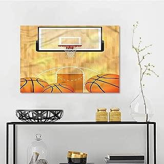 one1love Sports DIY Oil Painting Basketball Half Court Balls Office Art Decoration W47 xL31