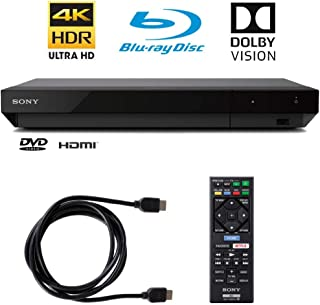 Sony 4K Ultra HD Blu Ray Player with 4K HDR and Dolby Vision + 6FT HDMI Cable - (UBP-X700) (Renewed)