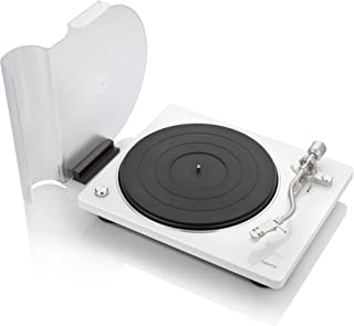 Denon DP-400 (White) Semi-Automatic Analog Turntable with Speed Auto Sensor | Specially Designed Curved Tonearm | Supports 33 1/3. 45, 78 RPM (Vintage) Speeds | Modern Looks, Superior Audio