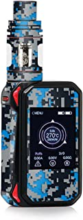 Skin Decal Vinyl Wrap for Smok G-Priv 2 230w touch screen Vape stickers skins cover / Digi Camo Sports Teams Colors digital camouflage Blue Silver Black