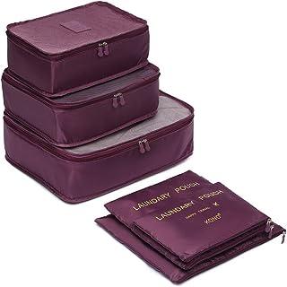 Kono Accessoire de Voyage- Cube d'empaquetage, Set, Burgundy