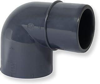 Paradies Pool GmbH PVC łącznik kątowy 90° Ø 50 mm mufa klejąca x Ø 40/50 mm klej, jakość z Europy, ilość: 1 sztuka