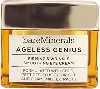 bareMinerals Ageless Genius Firming and Wrinkle Smoothing Eye Cream, 0.5 Ounce, clear (I0096120)