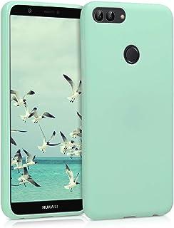 kwmobile Funda Compatible con Huawei Enjoy 7S / P Smart (2017) - Carcasa de TPU Silicona - Protector Trasero en Menta Mate