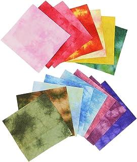 アワガミファクトリー 手染め和紙 もみ染め 十五色セット MS-8015