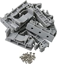 BQLZR 4.2x1x1.8cm Grijs Plastic PCB Rail Montage Adapter Circuit Board Montage Beugel Houder Carrier voor DIN 35 Montage R...