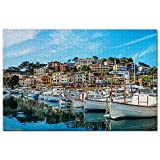 España Mallorca Puerto de Soller Puzzle 1000 Piezas para Adultos Familia Rompecabezas Recuerdo Turismo Regalo