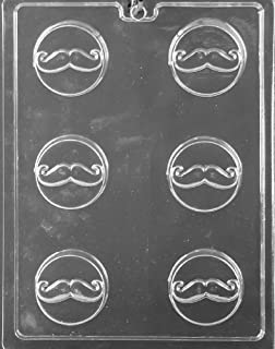 Grandmama's Goodies D116 Mustache Cookie Chocolate Candy Soap Mold with Exclusive Molding Instructions