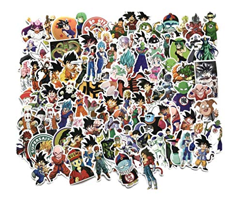 100 Cartoon Anime Dragon Ball Z DBZ Stickers for Luggage Case Car Decoration Sticker for Laptop Fridge Window Wall