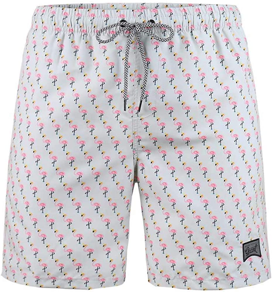Mens Swim Trunk with Pockets Surfing Smooth Vacation Board Shorts