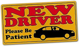 Zone Tech Vehicle Bumper Magnet – Premium Quality New Driver Please Be Patient Effective Bumper Decal Neon Yellow