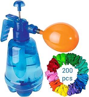 HAINIWER Bola de inflado de Agua Manual, Bomba de llenado de Globo de Agua portátil / estación de llenado / Botella de pulverización de Bomba con 200 Color Aleatorio Globos para Fiesta
