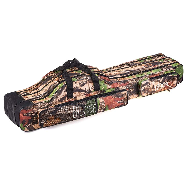 120Cm/150Cm 3層釣りバッグ ポータブル折りたたみ釣り竿リールバッグ 釣りタックルキャリーバッグケース 旅行ストレージバッグ