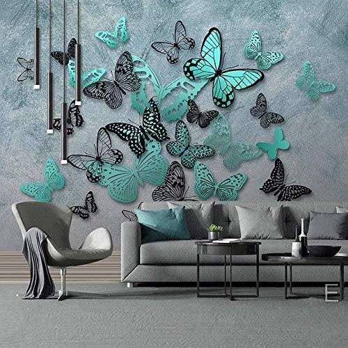 Mural 3D Mariposa nórdica tridimensional Foto Wallpaper Comedor Sala de Estar Sofá Telón de Fondo Pintura de Pared Mural de Pared-120x100cm
