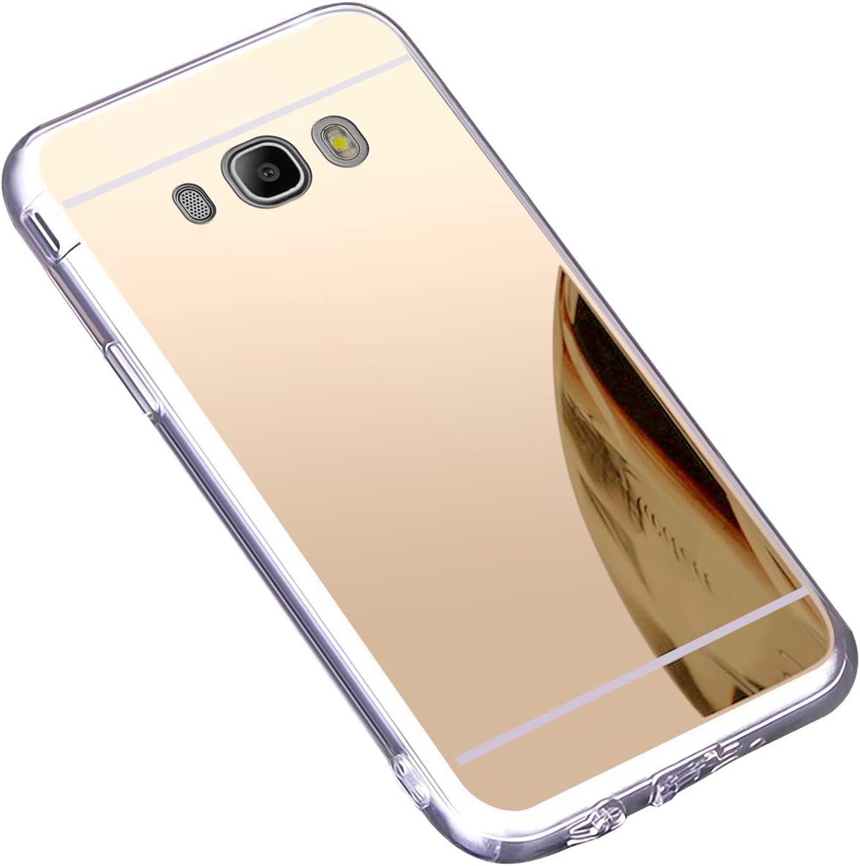 Coque Galaxy J7 2016,Miroir Housse Coque Silicone TPU pour Samsung Galaxy J7 2016,Surakey Bling Briller Diamond Coque Miroir Etui TPU Téléphone Coque ...