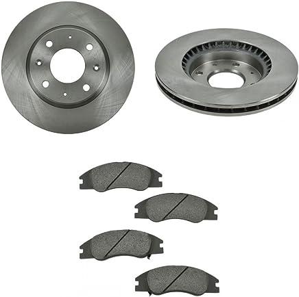 Front Semi Metallic Disc Brake Pad & Rotor Kit Set For Kia Spectra 5