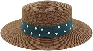 LiWen Zheng Summer Straw Sun Hat Outdoor Women Travel Seaside Holiday Beach Hat Sunscreen Green Cloth With White Wave Point Sunhat