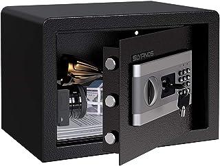 comprar comparacion SLYPNOS - Caja Fuerte (16L), Caja Fuerte Convencionales de Seguridad, Caja de Seguridad (Regalo con 4 AA batterias+2 Llave...