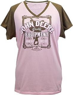 John Deere Quality Equipment Ladies V-Neck T-Shirt