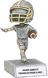 Custom Football Bobble Head Trophy, Great for Fantasy Football Leagues, Personalize Engraving
