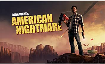 Monty Arts Alan Wakes American Nightmare Poster by Silk Printing # Size About (99cm x 60cm, 40inch x 24inch) # Unique Gift...