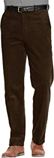 Raiken Mens Corduroy Trousers Belted Formal Smart Cotton Cord Casual Classic Pants