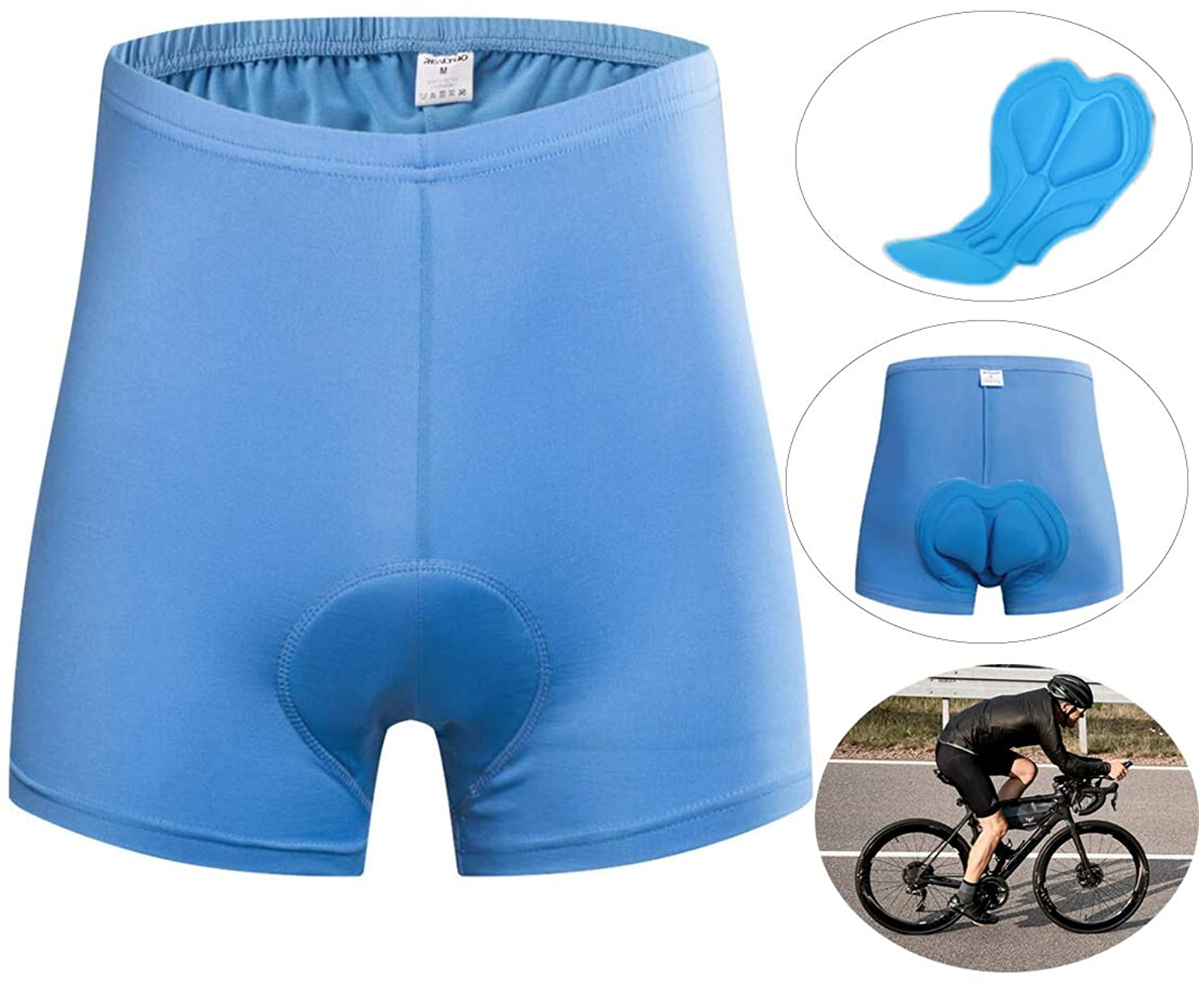 Men's Shorts Cycling Bike Pants Breathable& Elastic Bicycle Cycling Underwear Shorts with 3D Padded