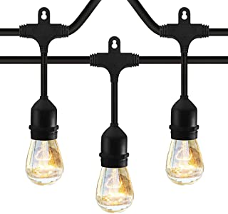 Classyke 48ft Indoor Outdoor String Lights for Patio Garden Yard Deck Cafe Dimmable Weatherproof Commercial Grade [UL Listed]