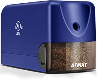 AFMAT Heavy Duty Electric Pencil Sharpener, Colored Pencil Sharpener for 6.5-8mm No.2..