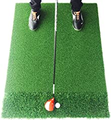 REALISTIC FEEDBACK: Designed to develop consistency and confidence in your golf swing, StrikeDown Dual-Turf Pro golf mats are a perfect fit for golfers looking to find unparalleled performance and feel. Our innovative technology delivers accurate fai...