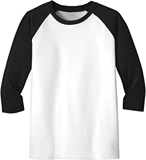 Joe's USA Youth Very Important Tee 3/4-Sleeve Raglan in Sizes XS-L