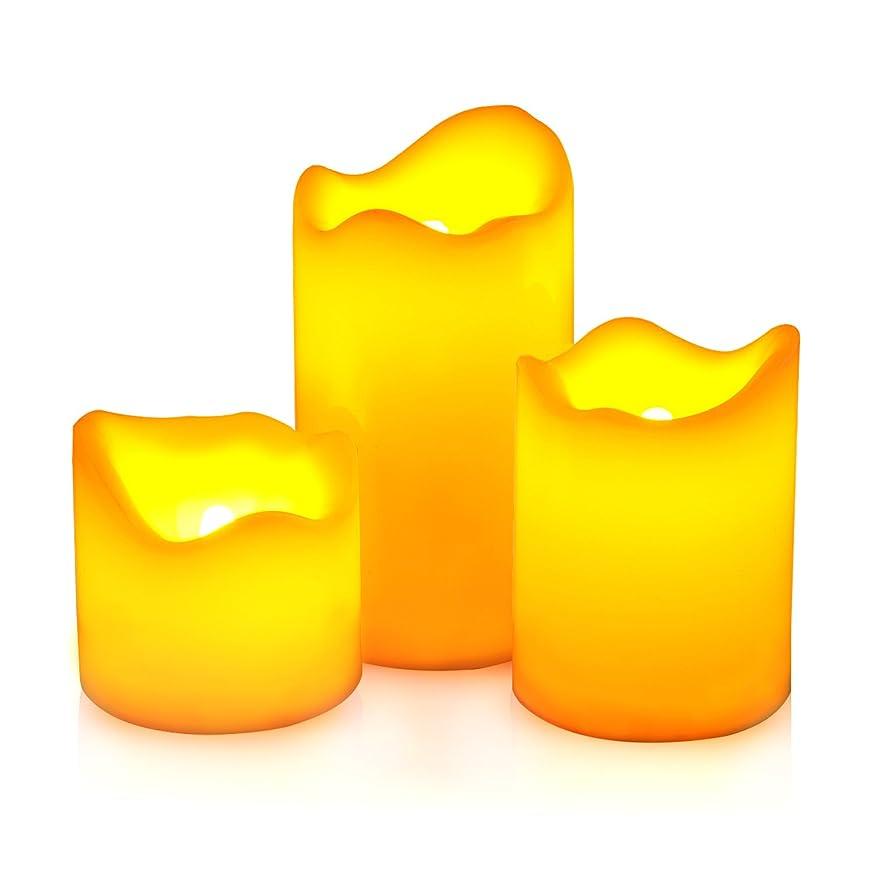 意味のあるアグネスグレイ狂気AGPtEK 【3個セット】LEDキャンドルライト 電池式 蝋燭ライト 着火不要 煙なし 安全便利 ろうそく リアル感 癒し 雰囲気 装飾用 クリスマスや誕生日パーティー、結婚式、記念日、自宅 飾り 黄色