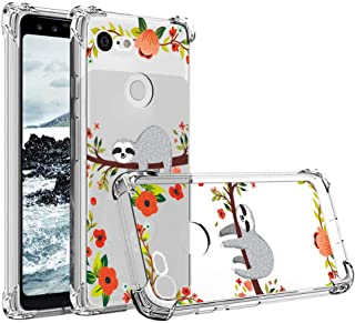 for Google Pixel 3 Shockproof Case with 4 Reinforced Corners Flexible Soft TPU Slim Silicone Protective Clear Cover