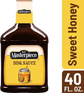 KC Masterpiece Sweet Honey and Molasses Barbecue Sauce, 40 Ounces (Pack of 6)