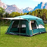 Nasmodo Dome Tent for Camping 3-12 Person Waterproof Picnic,campaigning, Hiking,Trekking Tent -Foldable Outdoor Tent House for Adults,Travel Tent for Family (8-12 Person, Green)