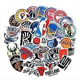 ZAQ 37 Pegatinas De La NBA Logotipo del Equipo De Baloncesto Logo Icono Maleta Cuaderno Pegatina Impermeable